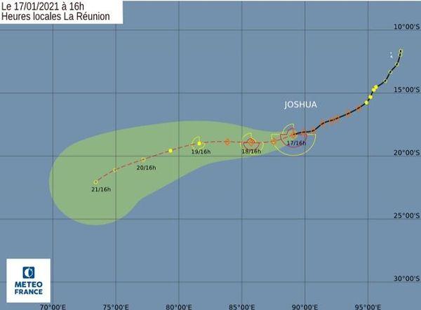 Prévision de trajectoire pour Joshua.