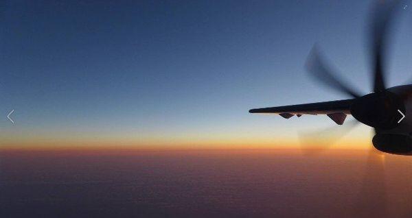 le nouvel ATR en vol au dessus de la méditerranée