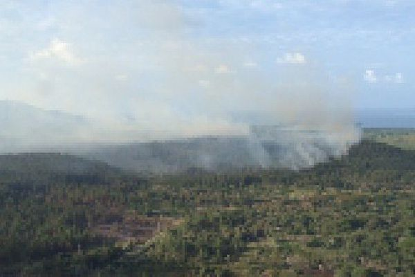 Incendie Îles des Pins le 28/09/2016