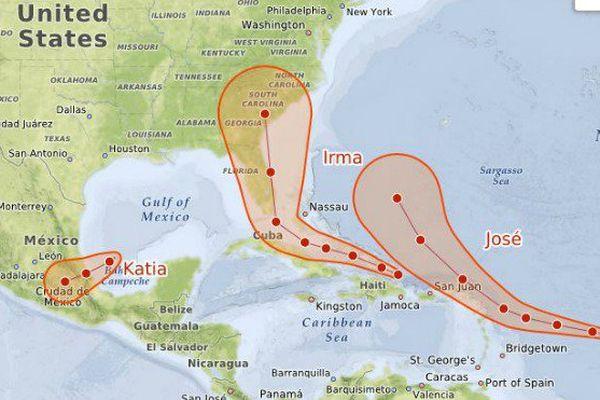 carte ouragans