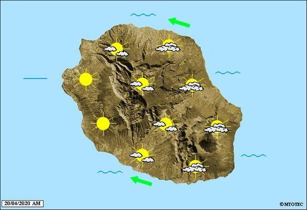 Carte météo 20 avril 2020
