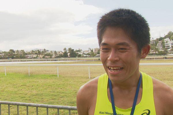 Le professionnel Kawauchi n'était qu'à 30 secondes du meilleur chrono de l'histoire du marathon de Nouméa.