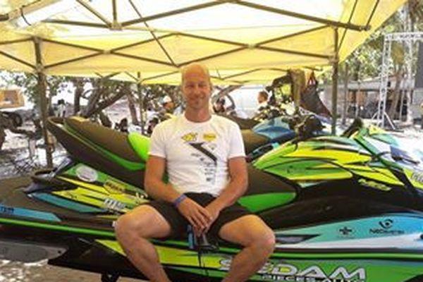 Franck Arnoux, l'un des concurrents guadeloupéens