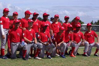 L'équipe U15 baseball à Auckland
