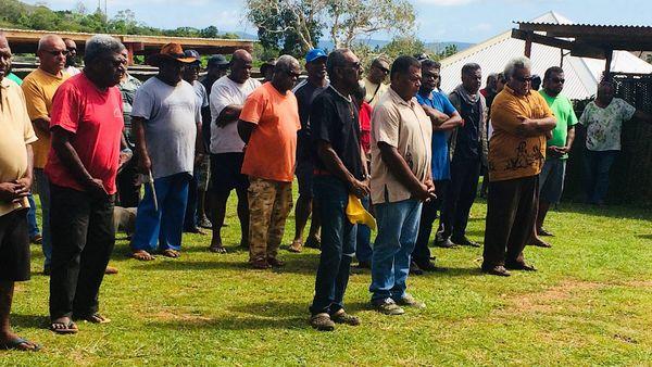 36e congrès du FLNKS à Poum, Arama: accueil des délégations, bis (3 février 2018)