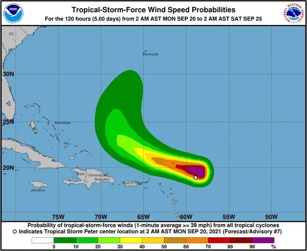 Tempête tropicale Peter