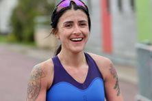 La coureuse Fanny Da Silva à l'arrivée de la course en 2018