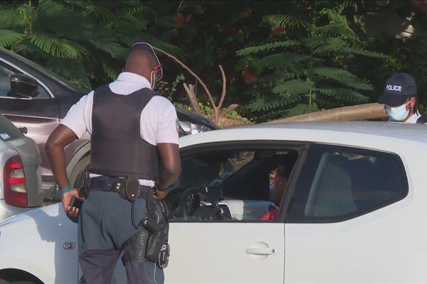 Contrôle routier en Basse-Terre