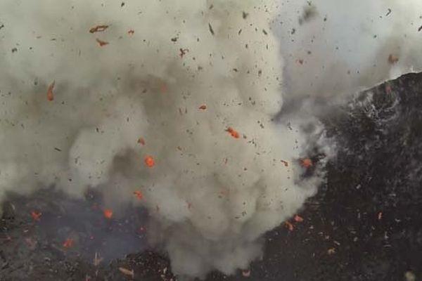 Eruption drone