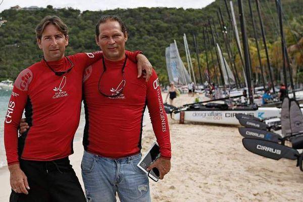 Patrick Molinard et Pascal Médina équipage de la Martinique à la St Barth Cata Cup