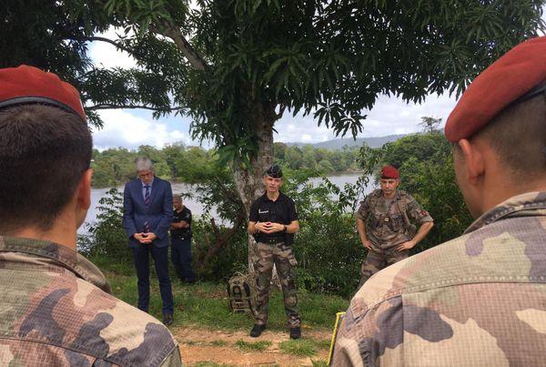 visite  des autorités, préfet FAG et gendarmerie à Taluen