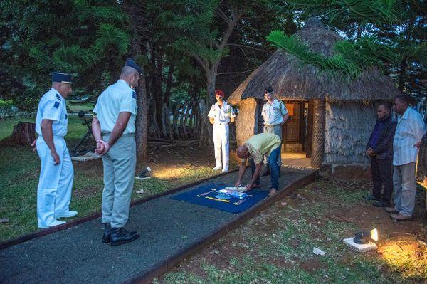 Coutume de passation de commandement au camp de Plum, Rimap-NC, juillet 2020