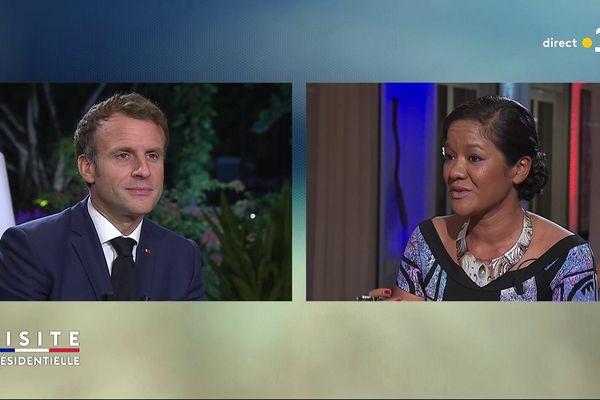 Entretien Emmanuel Macron avec Aiata Tarahu