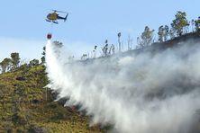 Largage d'eau au pic aux Morts, le 19 septembre.