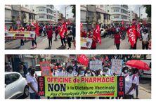 Nouvelle manifestation contre le pass sanitaire à Fort-de-France (samedi 2 octobre 2021).