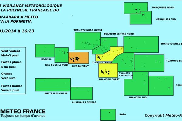 Carte vigilance météo