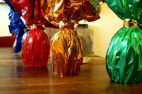 Oeufs en chocolat Mascarin emballés