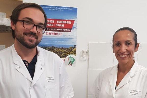 Nadia Saba, Endocrinologue chef du Service Endocrino-diabéto-nutrition et Mickaël Massicard, médecin nutritionniste