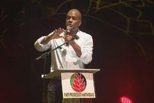 Serge Letchimy, président du Parti Progressiste Martiniquais à la rentrée du parti (21 mars 2021).