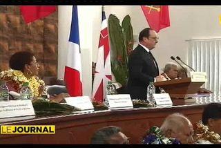 Accueil royal pour François Hollande à Wallis et Futuna