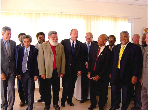 Chirac et des maires calédoniens