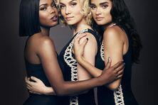Le trio de la série Star : Star (Jude Demorest), Alexandra (Ryan Destiny) et Simone (Brittany O'Grady)