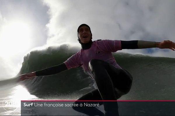 Justine Dupont à Nazaré