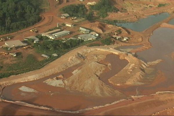 mine d'or Yaou Auplata vue aérienne
