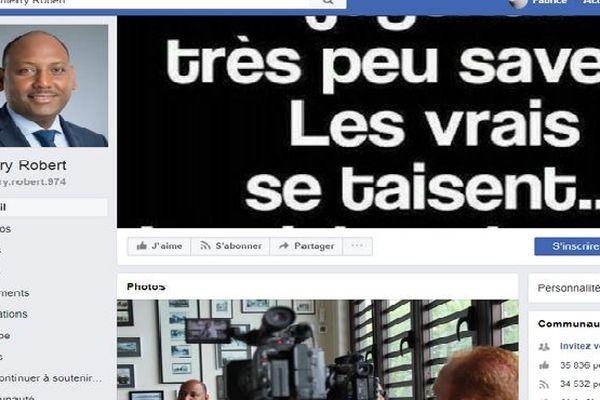 Facebook Thierry Robert, député, avril 2018