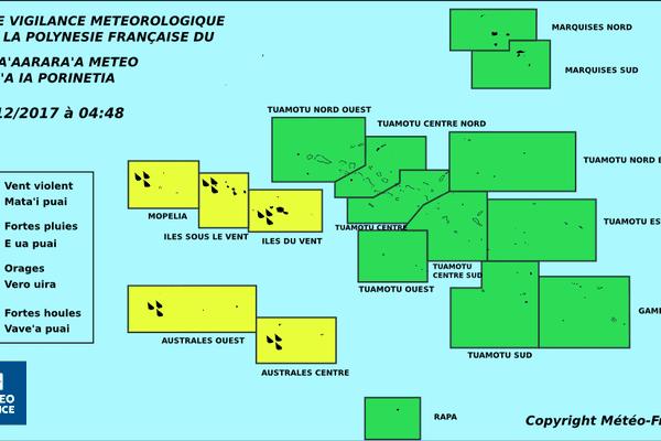 carte vigilance météo polynésie française