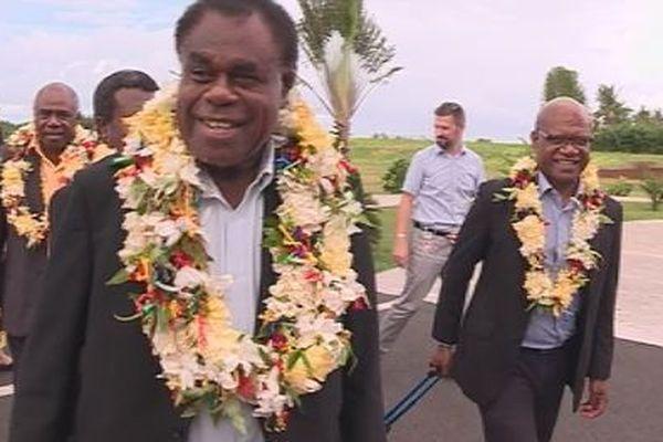 Arrivée delegation de Vanuatu