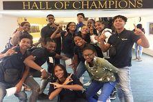 Les athlètes de la sélection de Martinique à Nassau aux Bahamas.