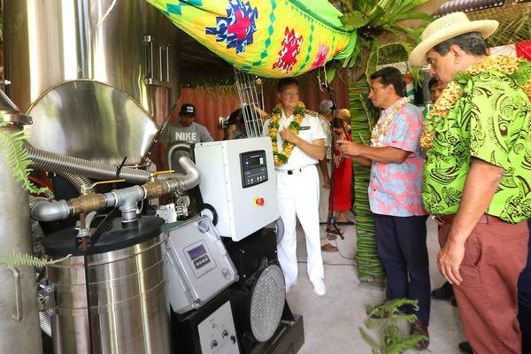Inauguration d'une usine de transformation agro-alimentaire à Hiva-Oa