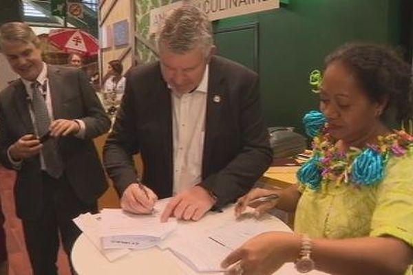 signature convention CCIMA et Chambre des métiers du Morbihan