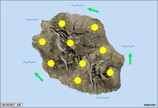 Carte météo mercredi 4 octobre 2017