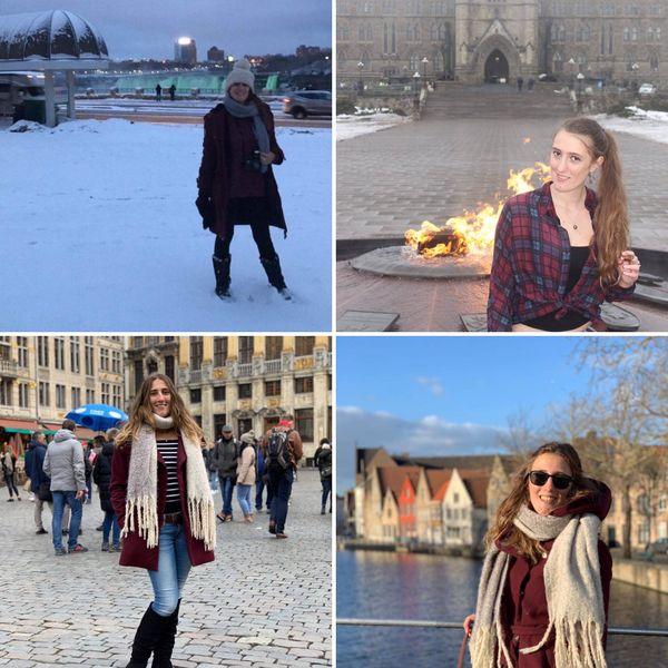 Après le Canada, la Calédonienne est étudiante en Belgique