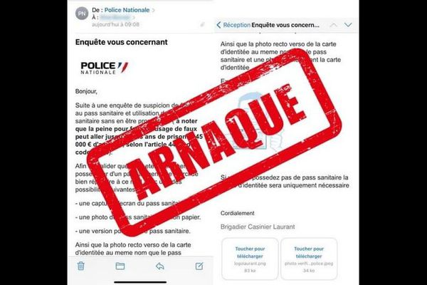arnaque fraude au pass sanitaire police nationale 110921