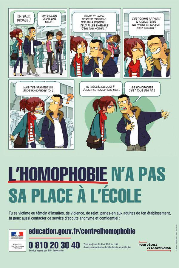Campagne contre l'homophobie à l'école