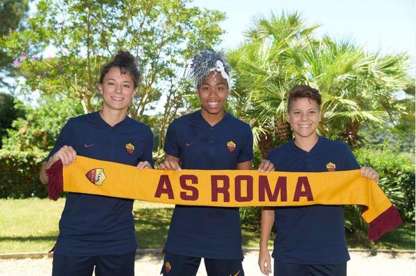 Lindsay Thomas footballeuse à l'AS Roma