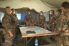 Des militaires du 3e régiment étranger d'infanterie (REI) en Guyane.