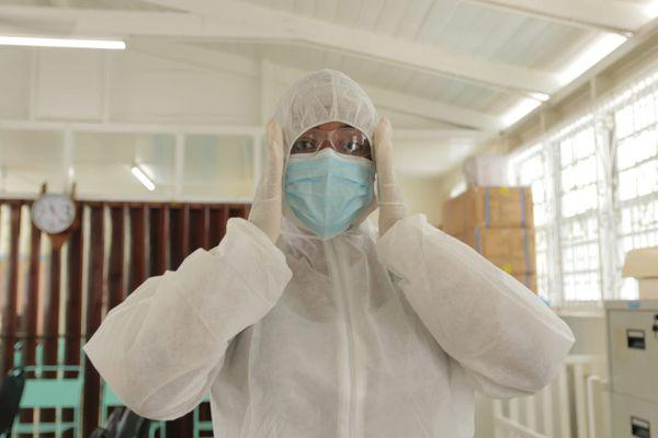 Intervention dans une école du Guyana contre le coronavirus