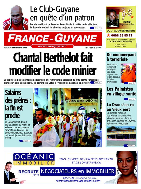 France Guyane 18/09