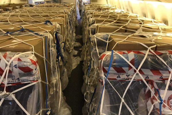 coronavirus donation masques chine avion air austral 240520