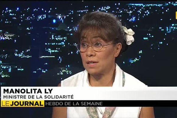 l'invitée du journal la Ministre de la Solidarité, Manolita LY