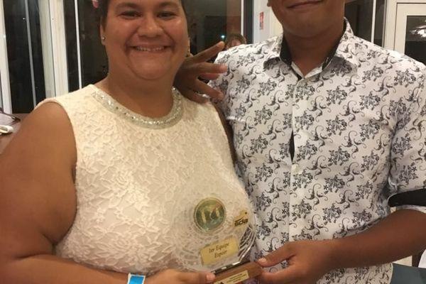 Joyce Guyonnet et Ra'i Timau, 1er prix Equipe Espoir Art et Table