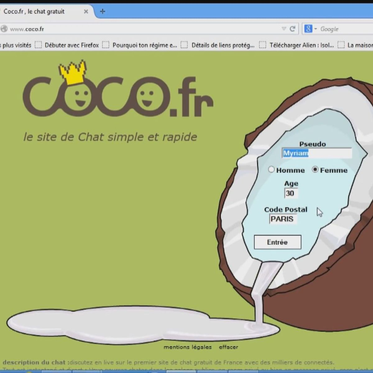 site tchat gratuit coco