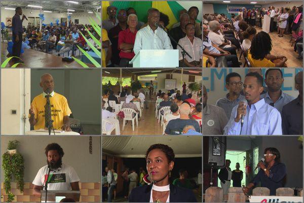 Candidats municipales 2020 en meeting
