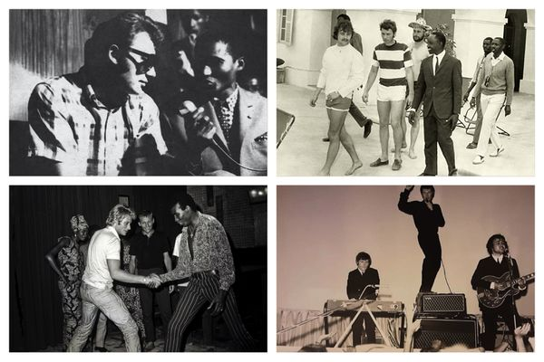 Johnny Hallyday sur le continent africain