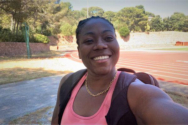 La championne guyanaise du javelot Alexie Alaïs.
