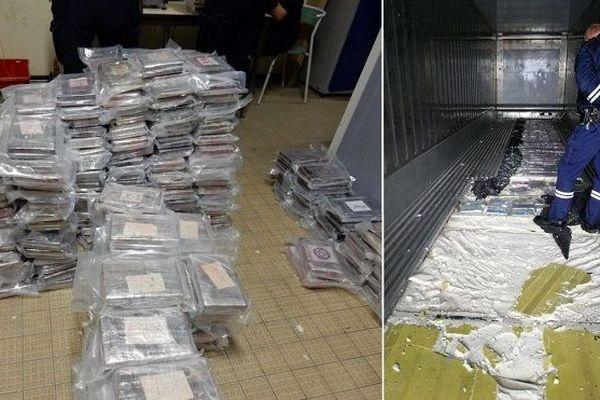 Près d'une demi-tonne de cocaïne saisie par les douanier de Dunkerque